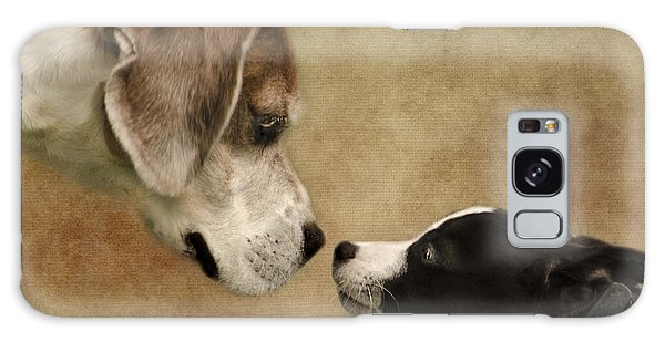 Nose To Nose Dogs Galaxy Case