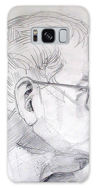 Graphite Portrait Life Drawing Sketch Not So Young Anymore Galaxy Case