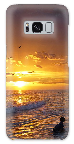 Ocean Sunset Galaxy S8 Case - Not Yet - Sunset Art By Sharon Cummings by Sharon Cummings