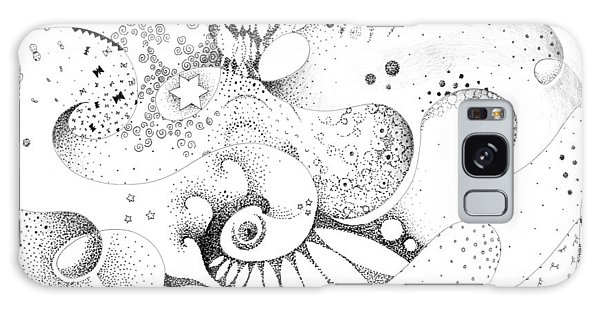 Organic Abstraction Galaxy Case - Nothing Beats Enthusiasm by Helena Tiainen