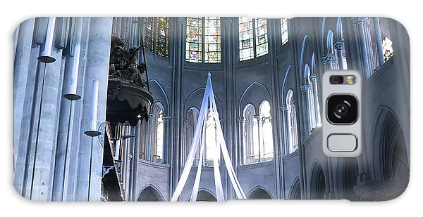 Notre Dame Altar Teal Paris France Galaxy Case by Evie Carrier
