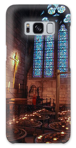Notre Dame Candles Galaxy Case by Ross Henton