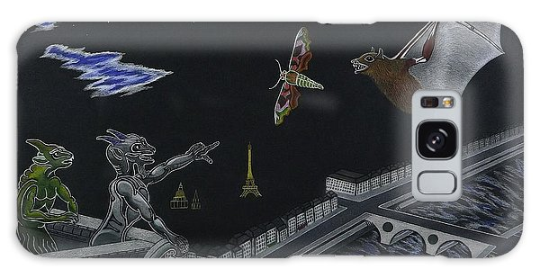 Notre Dame Cathedral While Paris Sleeps Galaxy Case by Gerald Strine
