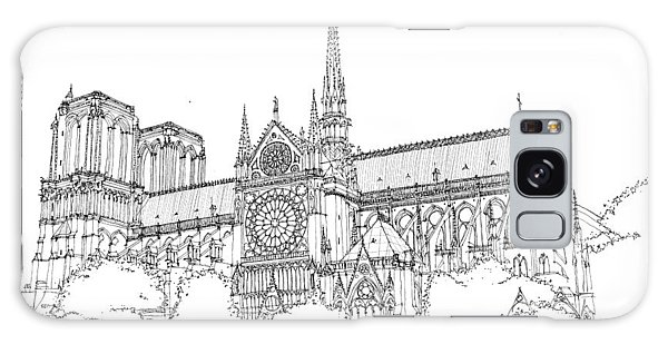 Notre Dame De Paris Galaxy Case by Calvin Durham