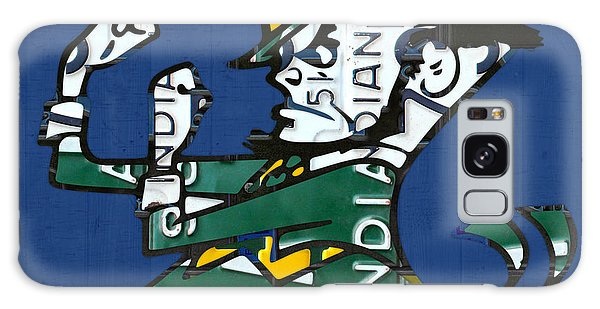 Notre Dame Fighting Irish Leprechaun Vintage Indiana License Plate Art  Galaxy Case