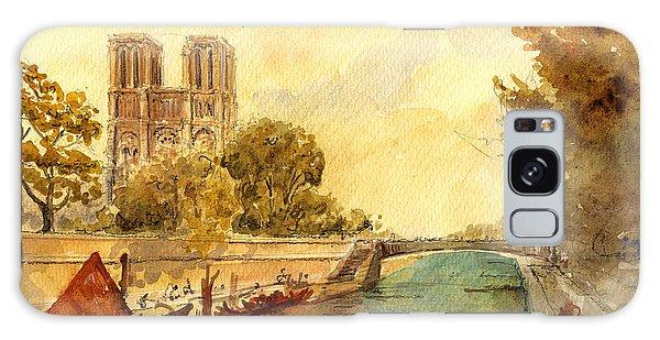 Notre Dame Galaxy Case - Notre Dame Paris. by Juan  Bosco