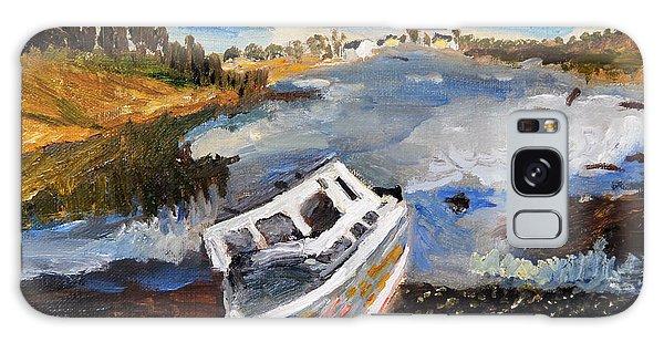 Nova Scotia Fishing Boat Galaxy Case