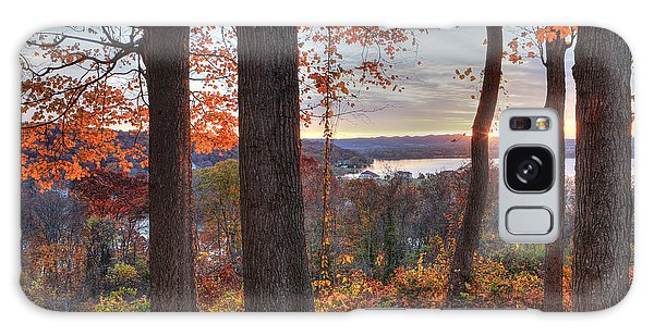 November Morning At The Lake Galaxy Case by Jaki Miller