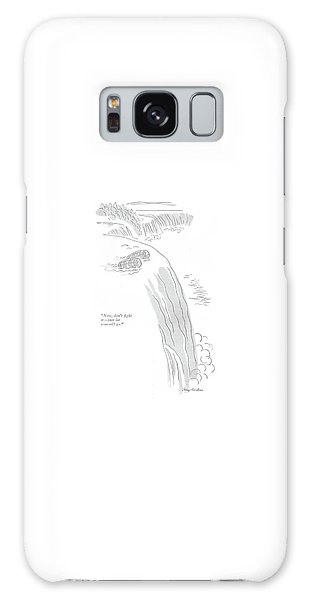 Waterfall Galaxy Case - Now, Don't ?ght It - Just Let Yourself Go by Perry Barlow