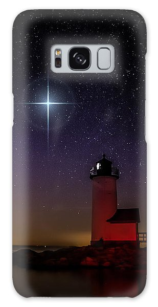Star Over Annisquam Lighthouse Galaxy Case by Jeff Folger