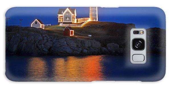 Nubble Light In York Me Cape Neddick Christmas Blue Sky Galaxy Case