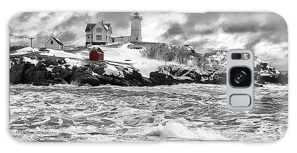 Nubble Lighthouse After The Storm Galaxy Case