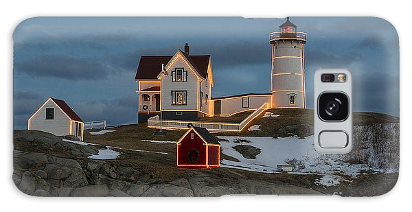 Nubble Lighthouse At Christmas Galaxy Case by Steven Ralser