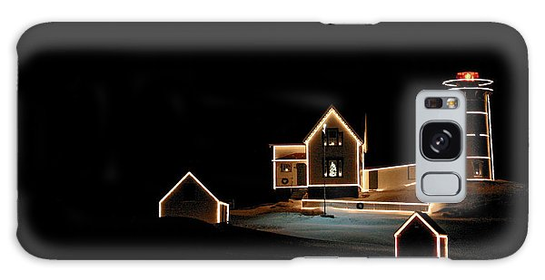 Nubble Lighthouse Christmas Lights Galaxy Case
