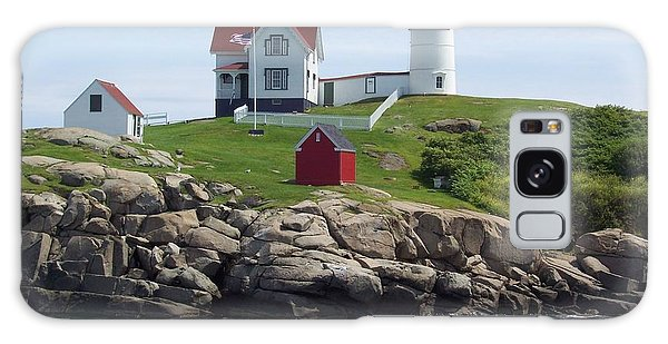 Nubble Lighthouse In Maine Galaxy Case
