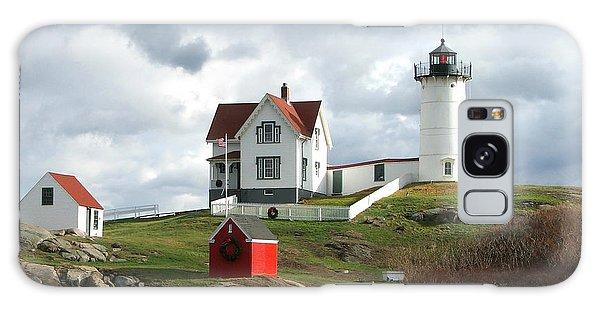 Nubble Lighthouse Galaxy Case by Nancy Landry