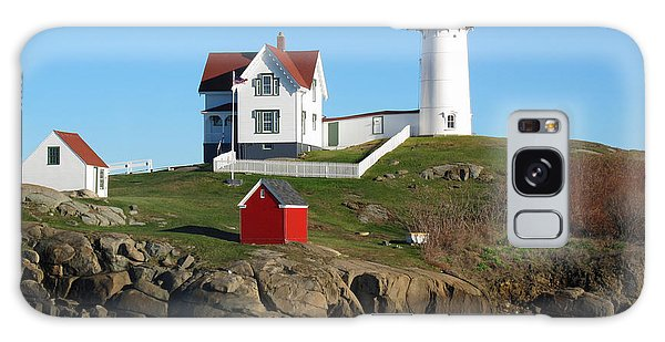 Cottage Galaxy Case - Nubble Lighthouse One by Barbara McDevitt