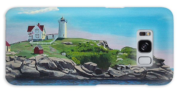 Nubble Lighthouse Sunrise Galaxy Case