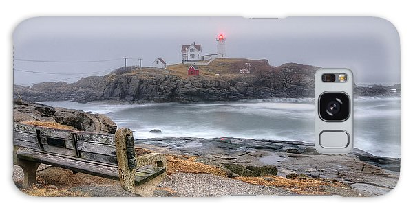Nubble Lighthouse View Galaxy Case
