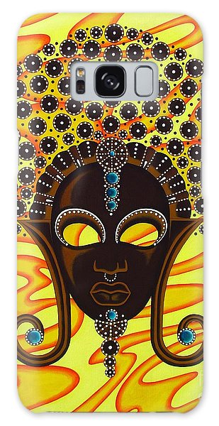 Nubian Modern Afro Mask Galaxy Case by Joseph Sonday