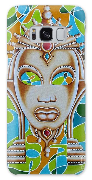 Nubian Modern Ivory Mask  Galaxy Case by Joseph Sonday