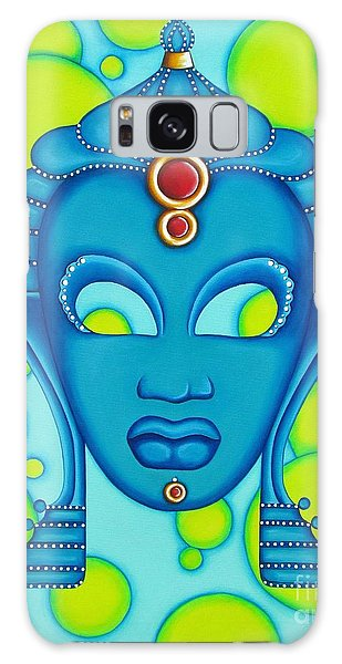 Nubian Modern Mask Blue Galaxy Case by Joseph Sonday