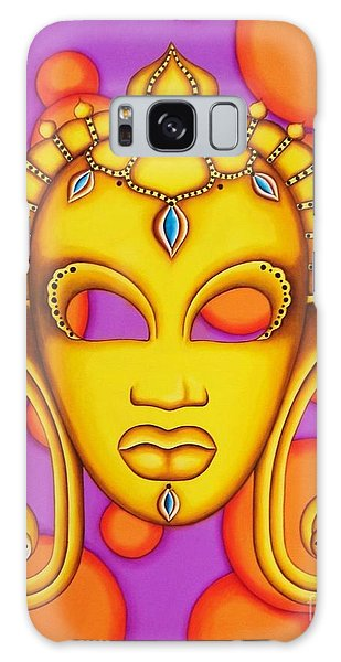 Nubian Modern Mask Gold Galaxy Case by Joseph Sonday