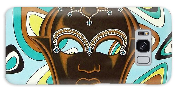 Nubian Modern  Mask Galaxy Case by Joseph Sonday
