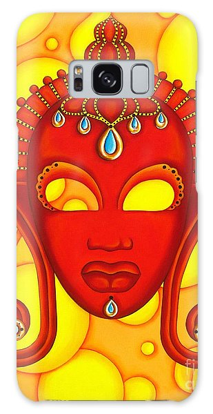 Nubian Modern Mask Red Galaxy Case by Joseph Sonday