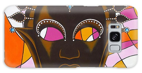 Nubian Modern Mask With Pink Galaxy Case by Joseph Sonday