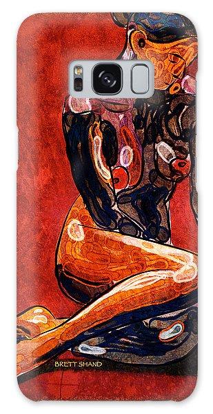 Nude - Woman Sitting Galaxy Case