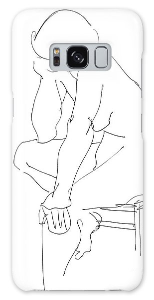 Nude Female Drawings 12 Galaxy Case