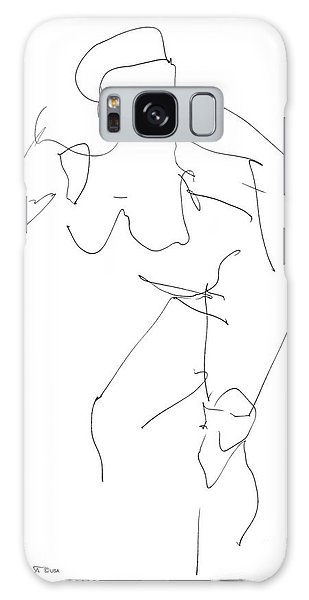 Nude Female Drawings 14 Galaxy Case