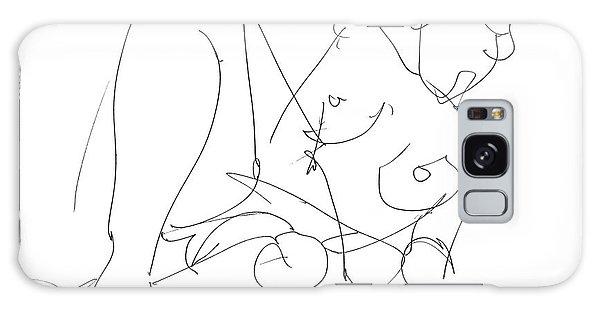 Nude Female Drawings 15 Galaxy Case by Gordon Punt
