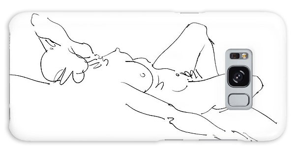 Nude Female Drawings 2 Galaxy Case by Gordon Punt