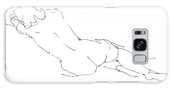 Nude Female Drawings 9 Galaxy Case by Gordon Punt