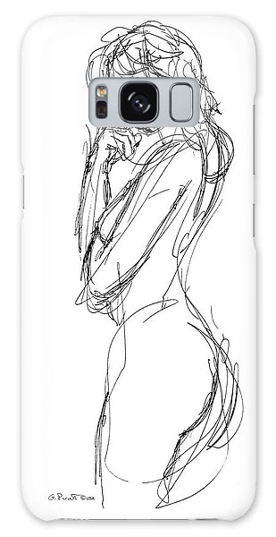 Nude Female Sketches 1 Galaxy Case
