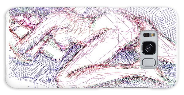 Nude Female Sketches 5 Galaxy Case