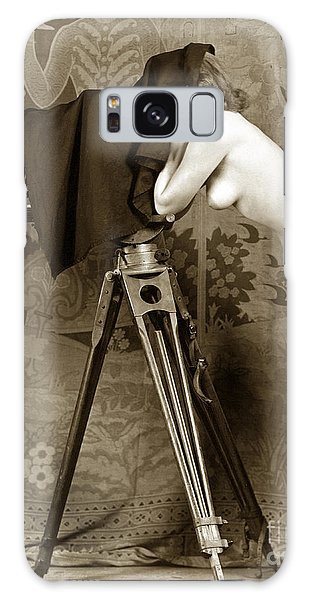 Nude In High Heel Shoes With Studio Camera Circa 1920 Galaxy Case