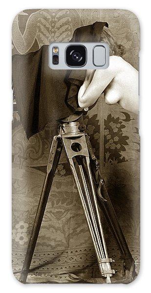 Nude In High Heel Shoes With Studio Camera Circa 1920 Galaxy Case