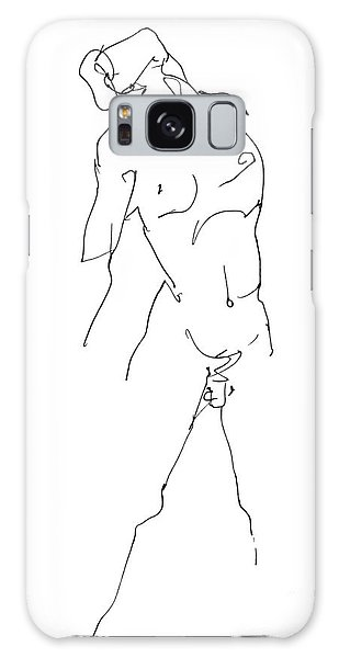 Nude-male-drawing-11 Galaxy Case