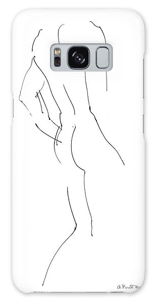 Nude Male Drawings 2 Galaxy Case