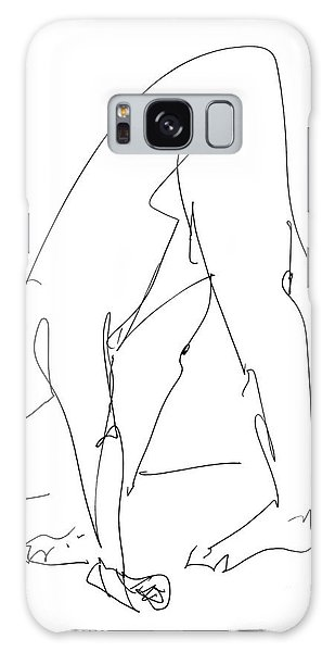 Nude Male Drawings 32 Galaxy Case
