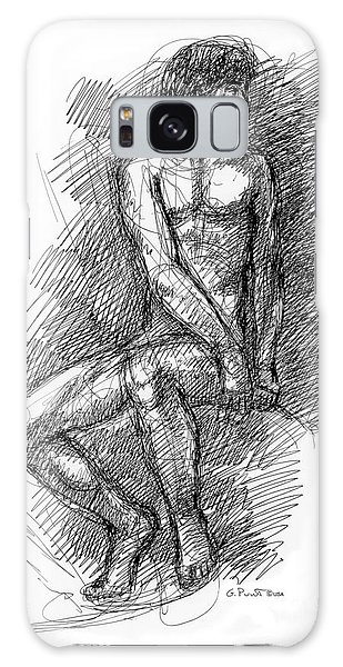 Nude Male Sketches 1 Galaxy Case