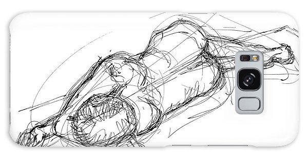 Nude Male Sketches 4 Galaxy Case