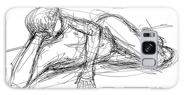 Nude Male Sketches 5 Galaxy Case