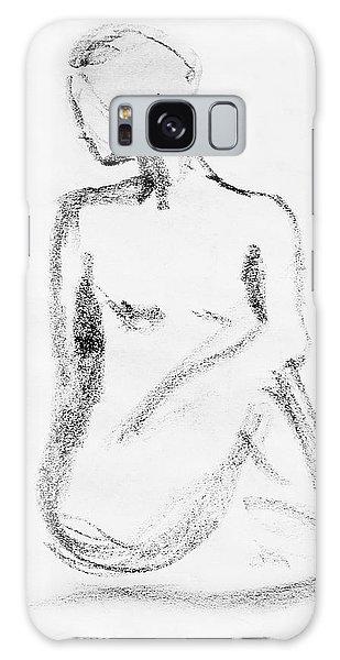 Beautiful Girl Galaxy Case - Nude Model Gesture Vi by Irina Sztukowski