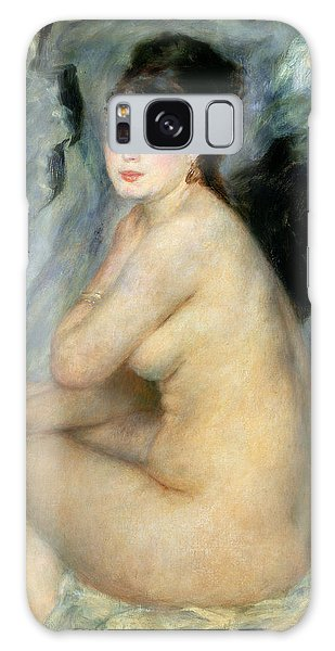 Earring Galaxy Case - Nude Or Nude Seated On A Sofa 1876 by Pierre Auguste Renoir