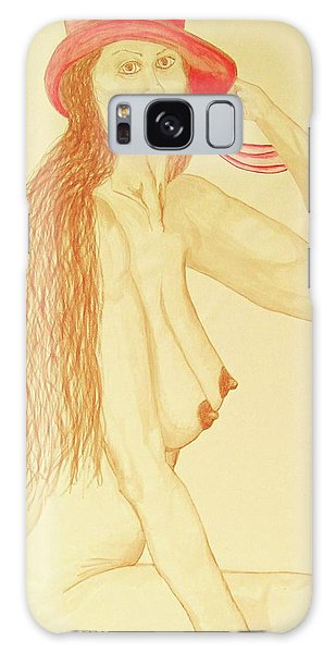 Nude With Red Hat Galaxy Case by Rand Swift