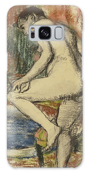 Impressionistic Galaxy Case - Nude Woman Wiping Herself After The Bath by Edgar Degas